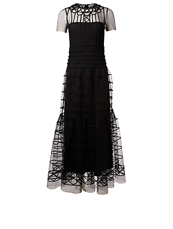 RED VALENTINO Layered Tulle Gown Women's Black