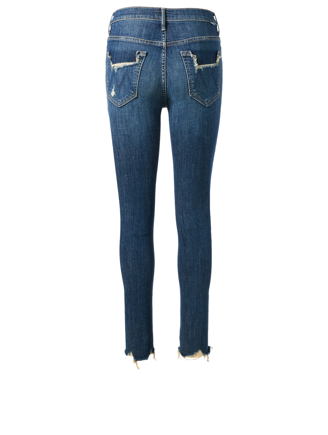 MOTHER Stunner High-Rise Ankle Jeans With Chew Hem Women's Blue