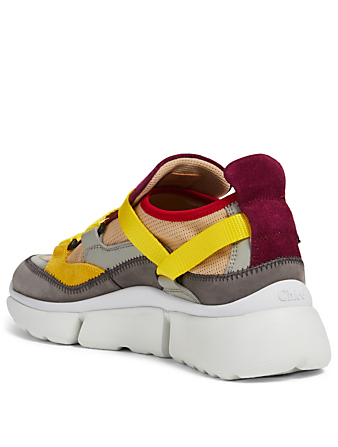 CHLOÉ Sonnie Suede And Mesh Sneakers Women's Purple