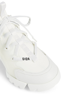 DIOR D-Connect Technical Fabric Sneakers Women's White