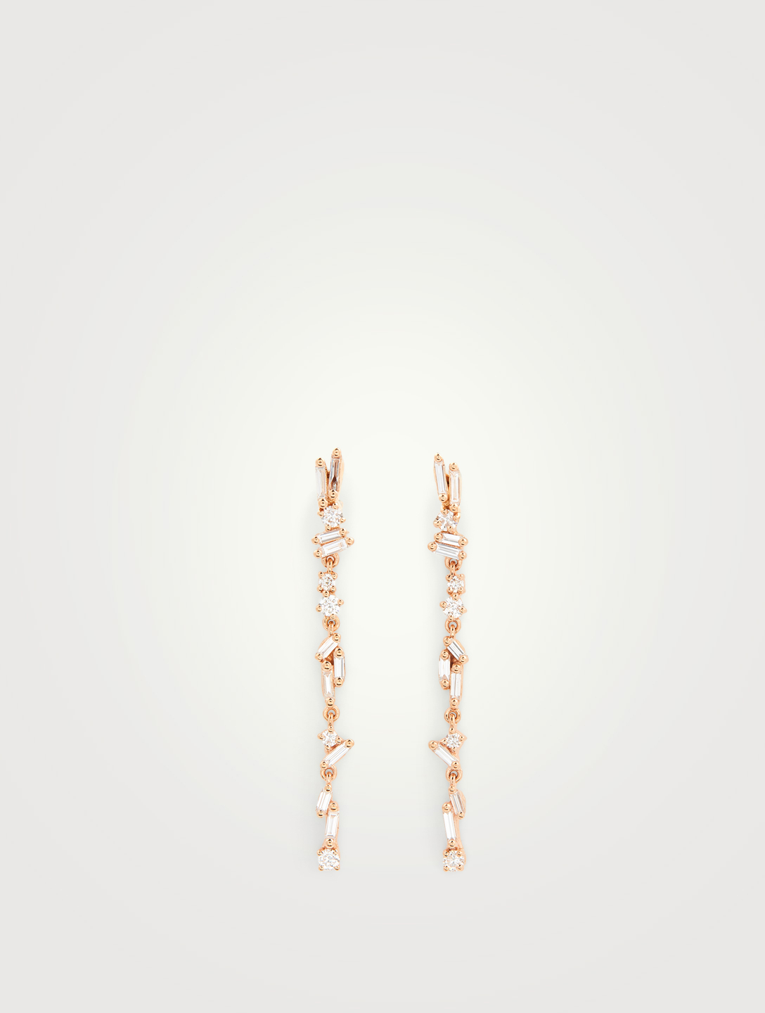 SUZANNE KALAN Fireworks 18K Rose Gold Dangle Earrings With Diamonds Women's Metallic