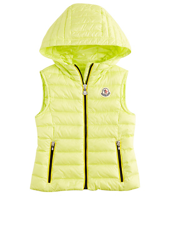 MONCLER ENFANT Girls Sucre Down Puffer Vest Kids Yellow