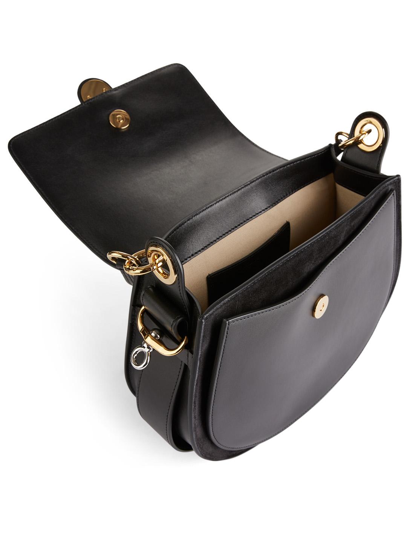 14898874 CHLOÉ Large Tess Leather And Suede Saddle Bag | Holt Renfrew