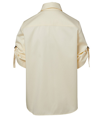 GIVENCHY Rolled-Sleeve Military Shirt Women's Neutral