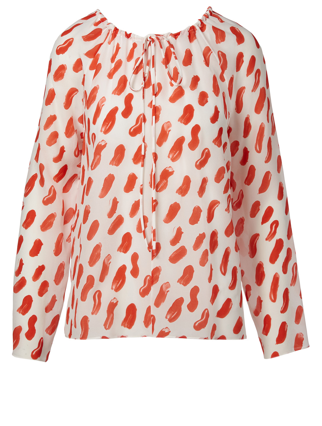 MARNI Printed Silk Blouse Womens Red