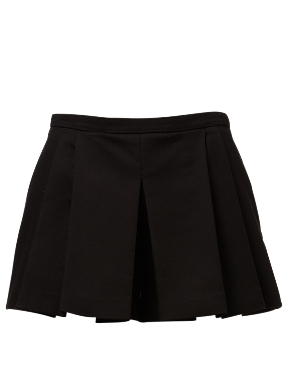 RED VALENTINO Cotton-Blend Pleated Shorts Women's Black