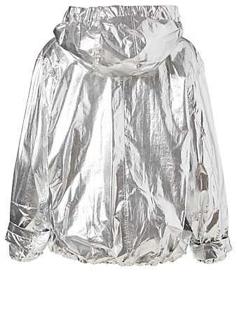 SMYTHE Metallic Windbreaker Womens Silver