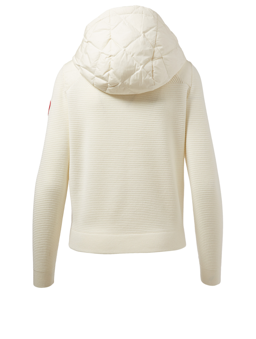 CANADA GOOSE HyBridge Quilted Knit Hoodie Women's White