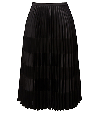 NOIR KEI NINOMIYA Satin Pleated Skirt Womens Black