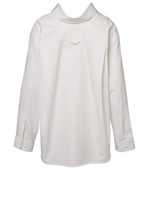 88d95689a1be BALENCIAGA Swing Collar Poplin Button-Down Shirt | Holt Renfrew