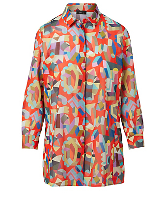 AKRIS Cotton Blouse In Indian Summer Print Women's Multi