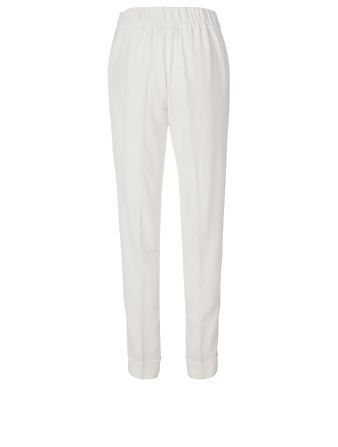 AKRIS Crêpe Slim Fit Pants Women's White