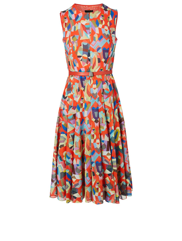 dbf86a364a840 AKRIS Cotton Dress In Indian Summer Print   Holt Renfrew