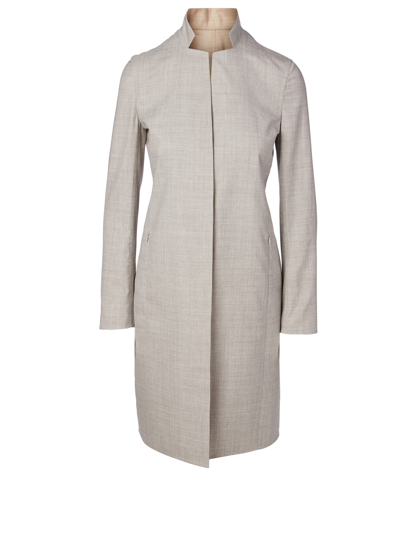 6a24e694902 AKRIS Wool and Silk Reversible Coat | Holt Renfrew