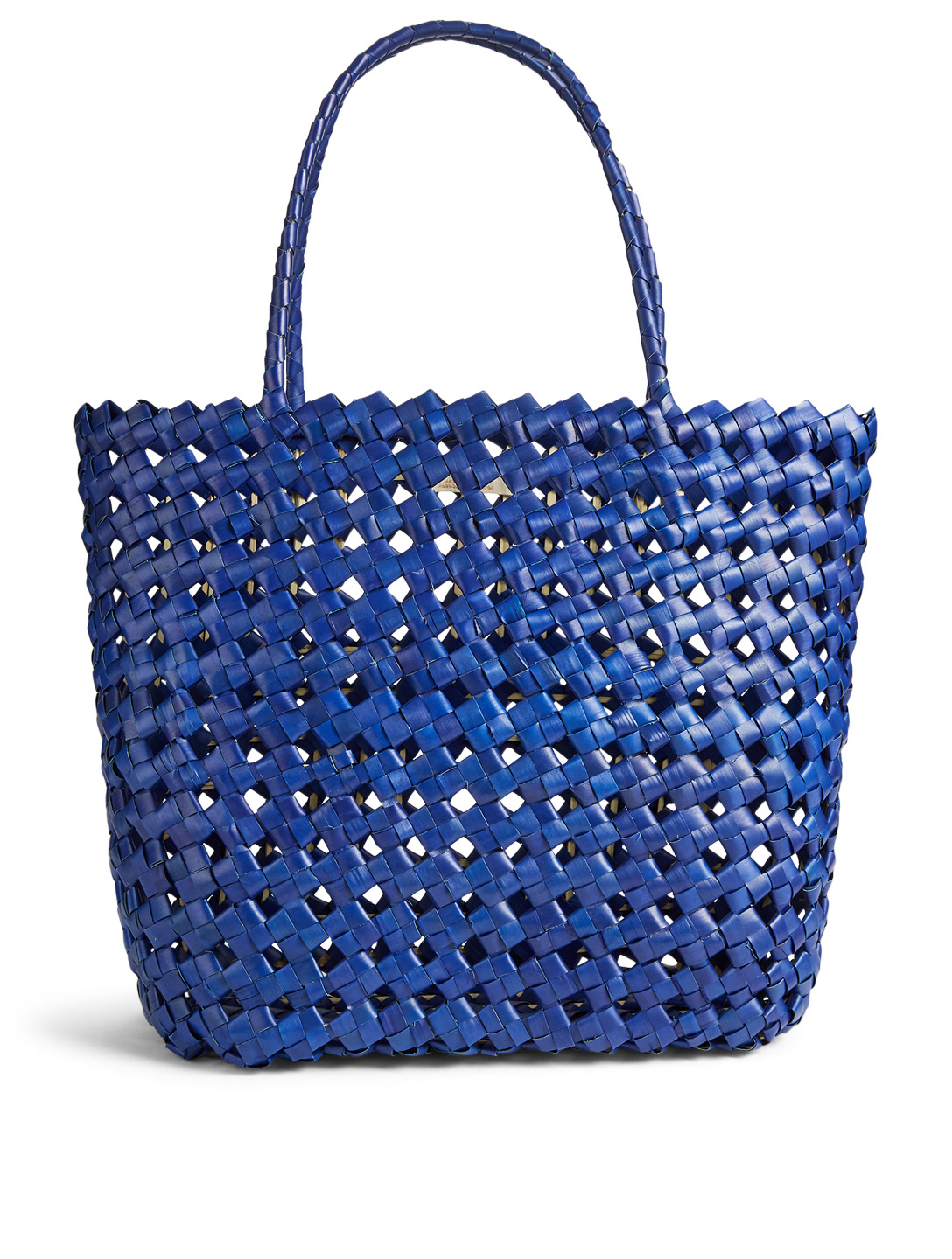 BEACHGOLD Sari Woven Palm Tote Bag H Project Blue