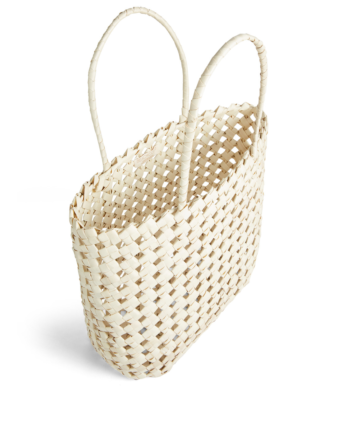 BEACHGOLD Sari Woven Palm Tote Bag H Project Neutral