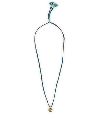 THE BRAVE COLLECTION Braided Necklace With Gold-Plated Seashell H Project Blue
