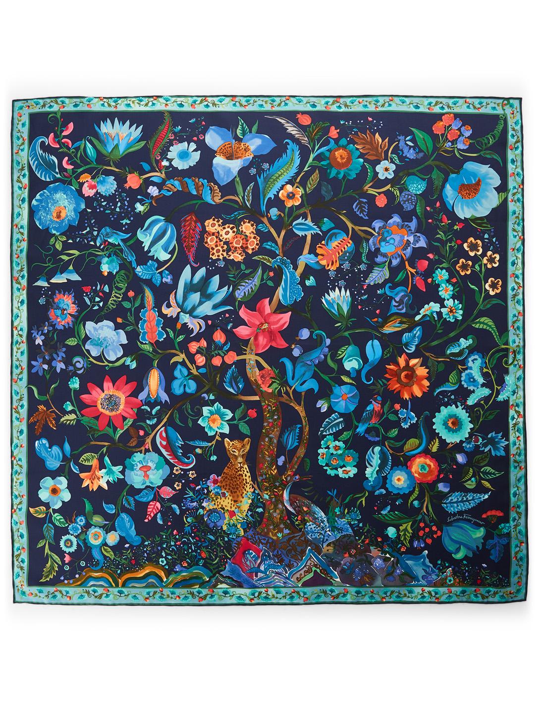 4a0fec54e SALVATORE FERRAGAMO Silk Scarf In Tree Of Life Print | Holt Renfrew
