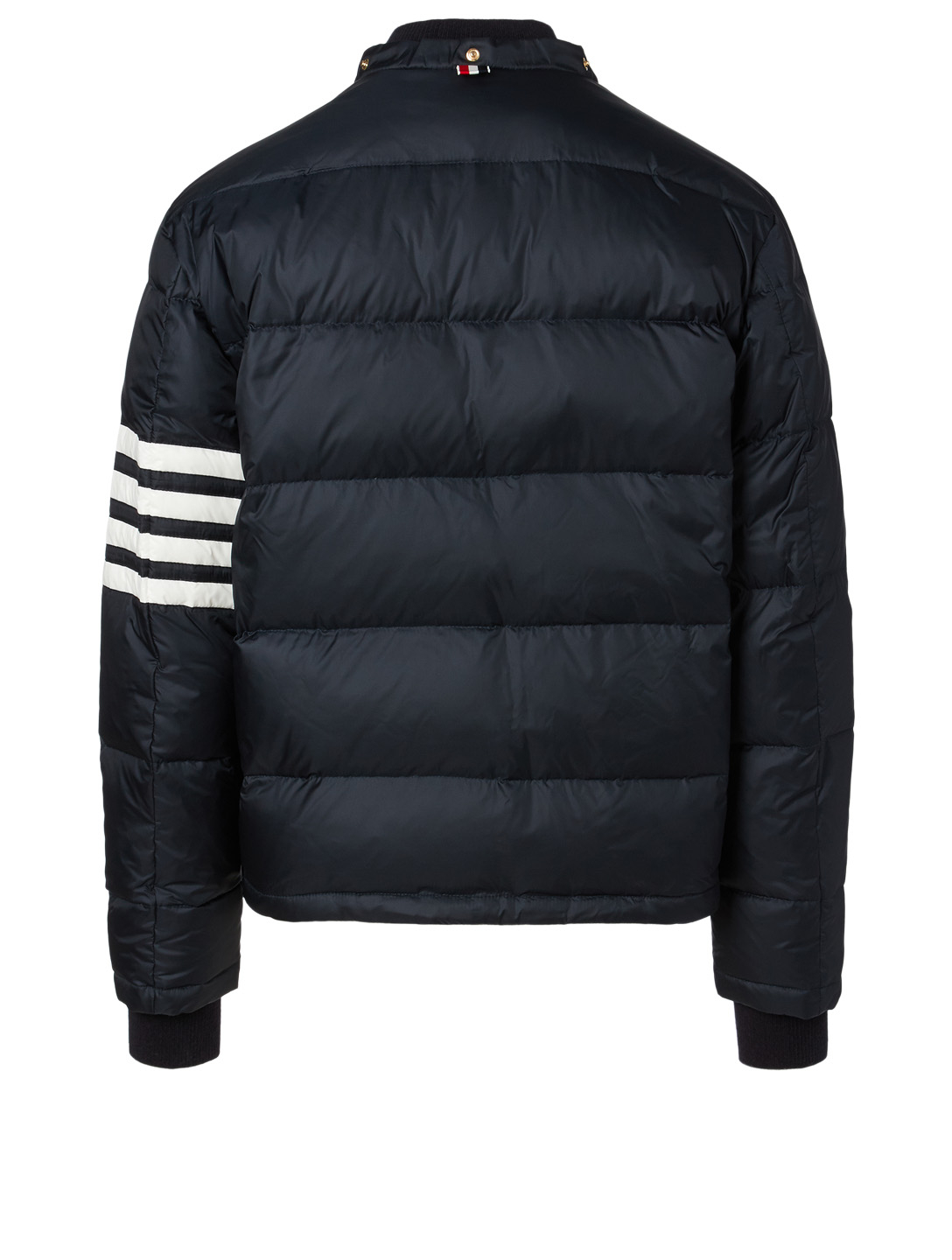 THOM BROWNE Four-Bar Stripe Bomber Jacket Men's Blue