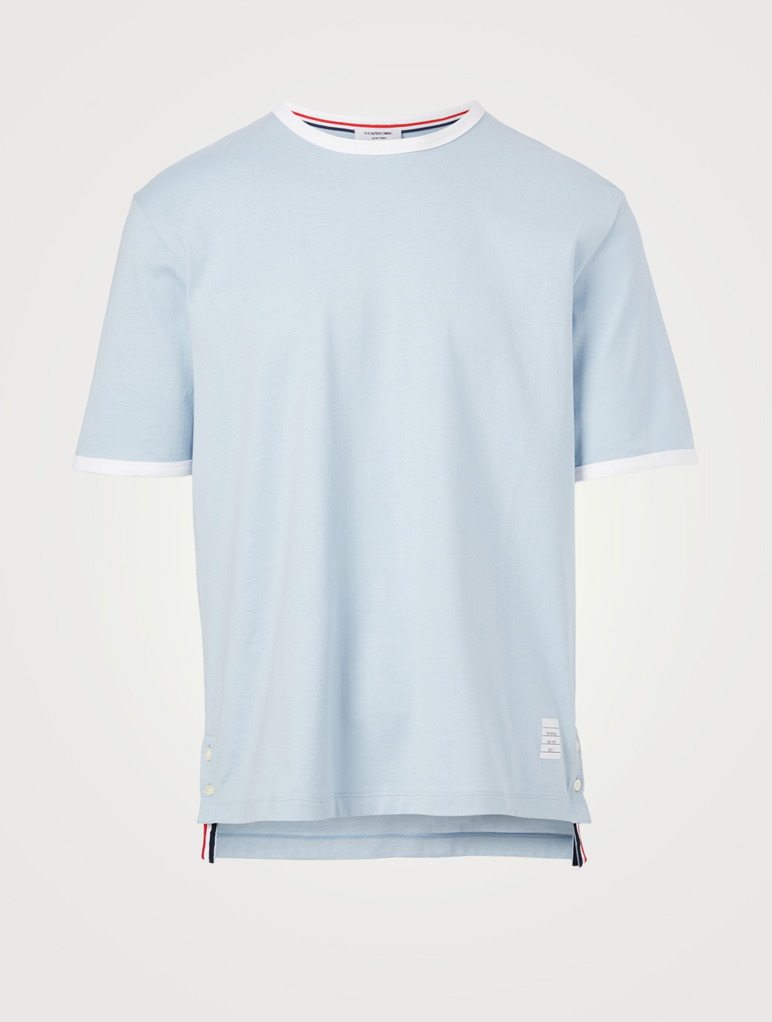 THOM BROWNE Cotton Ringer T-Shirt Men's Blue