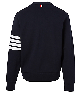 THOM BROWNE Cotton Four-Bar Cardigan Men's Blue