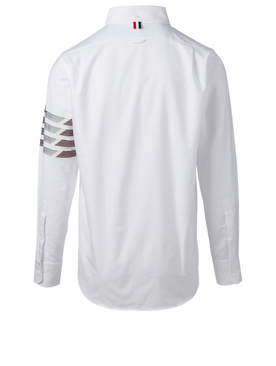 THOM BROWNE Cotton Stripe Sleeve Shirt Men's White