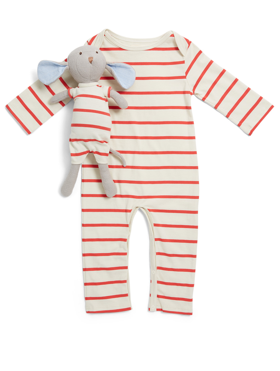 HAZEL VILLAGE Cozy Lodge Romper With Oliver Mouse Plush Toy H Project Multi