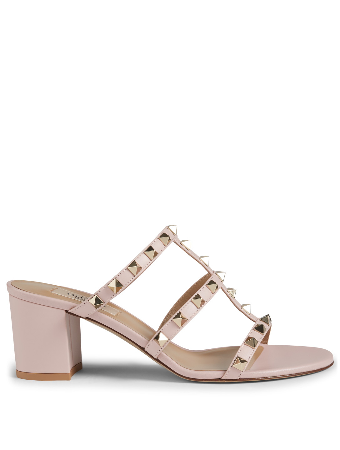 5431b966460 VALENTINO GARAVANI Rockstud Leather Heeled Mule Sandals | Holt Renfrew