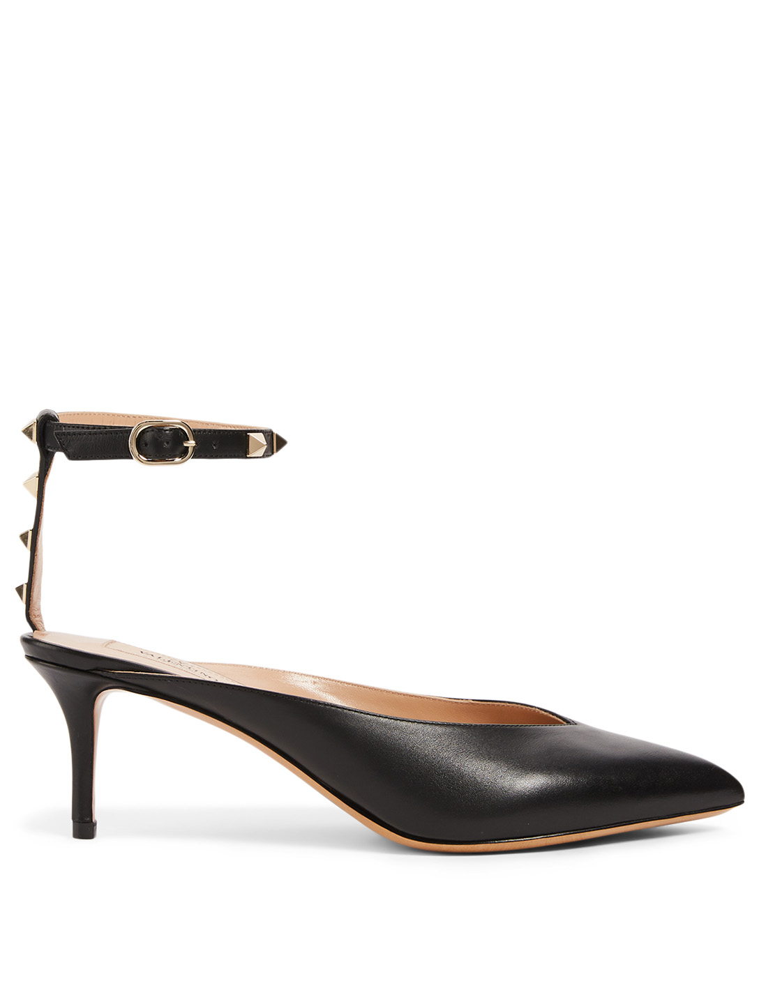 VALENTINO GARAVANI Rockstud Hype Leather Pumps Women's Black
