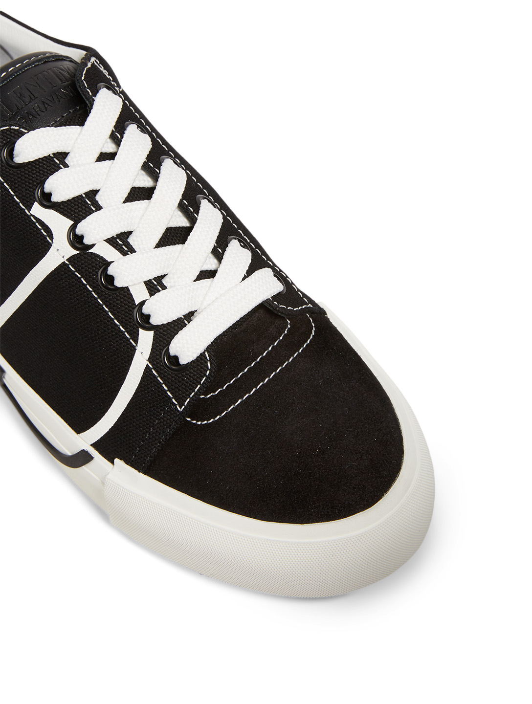 VALENTINO GARAVANI Tricks Leather Sneakers With VLOGO Women's Black