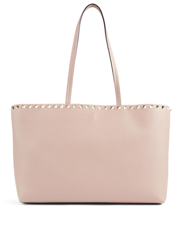 58917e2273a VALENTINO GARAVANI Small Rockstud Leather Tote Bag | Holt Renfrew