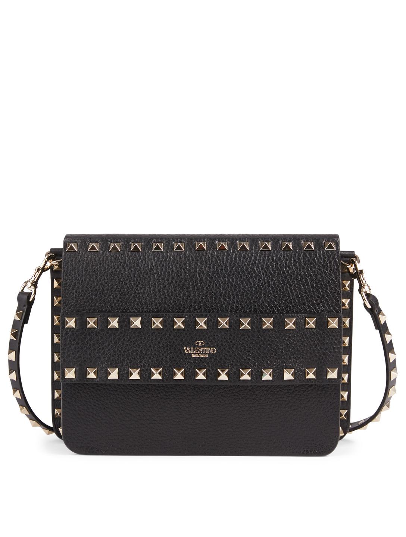 14920f44b1 VALENTINO GARAVANI Small Rockstud Leather Bag Women's Black ...