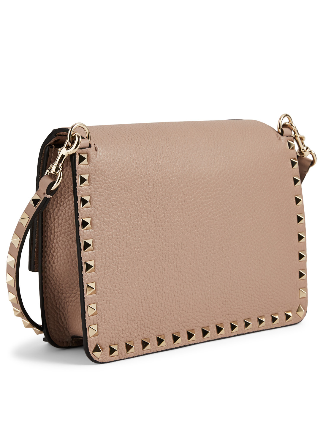 VALENTINO GARAVANI Small Rockstud Leather Bag Women's Pink