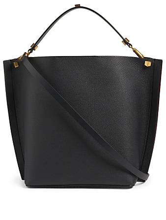 VALENTINO GARAVANI VLogo Escape Leather Tote Bag Women's Black