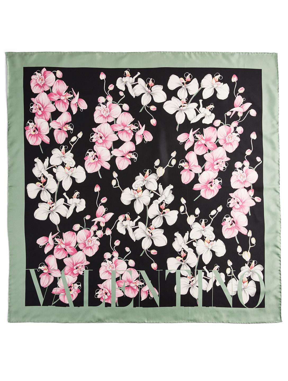3db999fea VALENTINO GARAVANI Silk Scarf In Orchid Print | Holt Renfrew