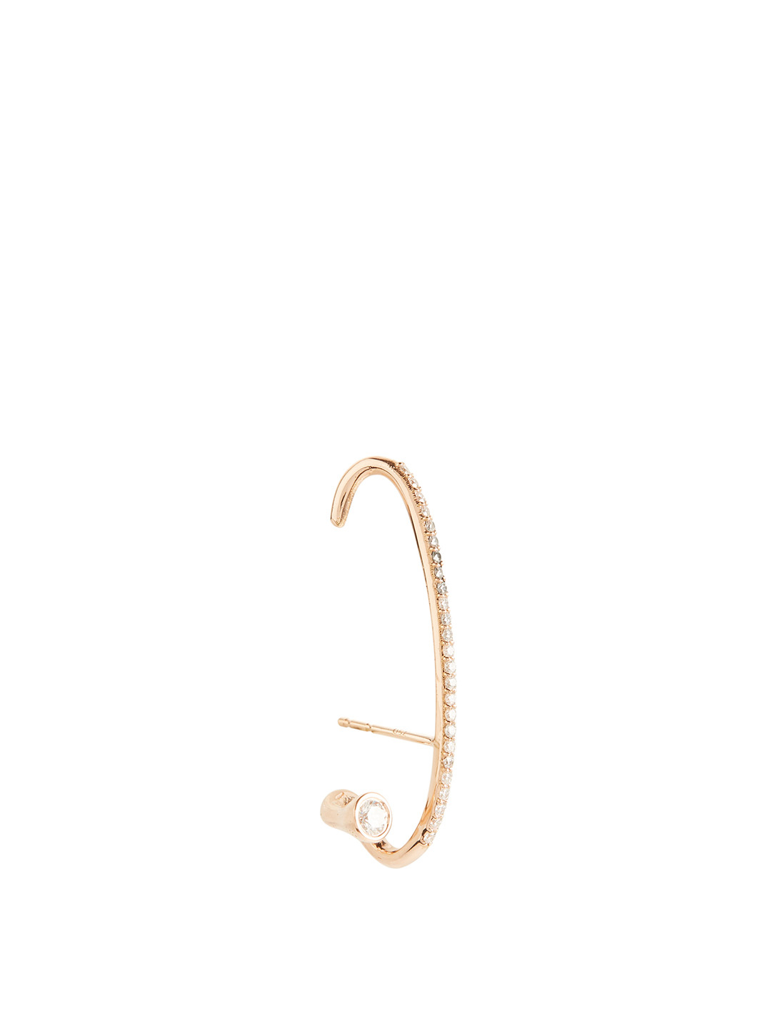 KATKIM Crescendo Flare 18K Rose Gold Right Earring With Diamonds Women's Metallic