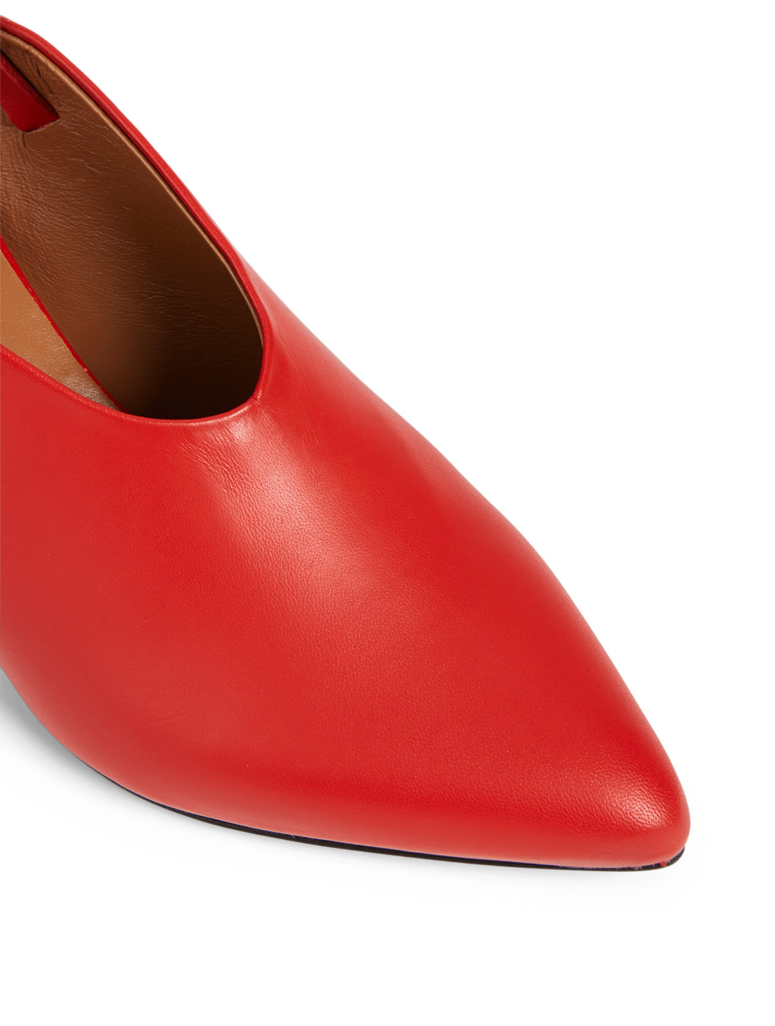 ATP ATELIER Abra Leather Slingback Pumps Women's Red