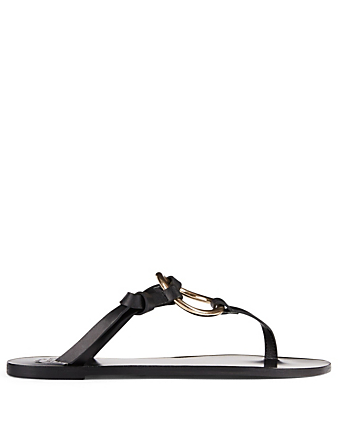 ATP ATELIER Forna Leather Thong Sandals Women's Black