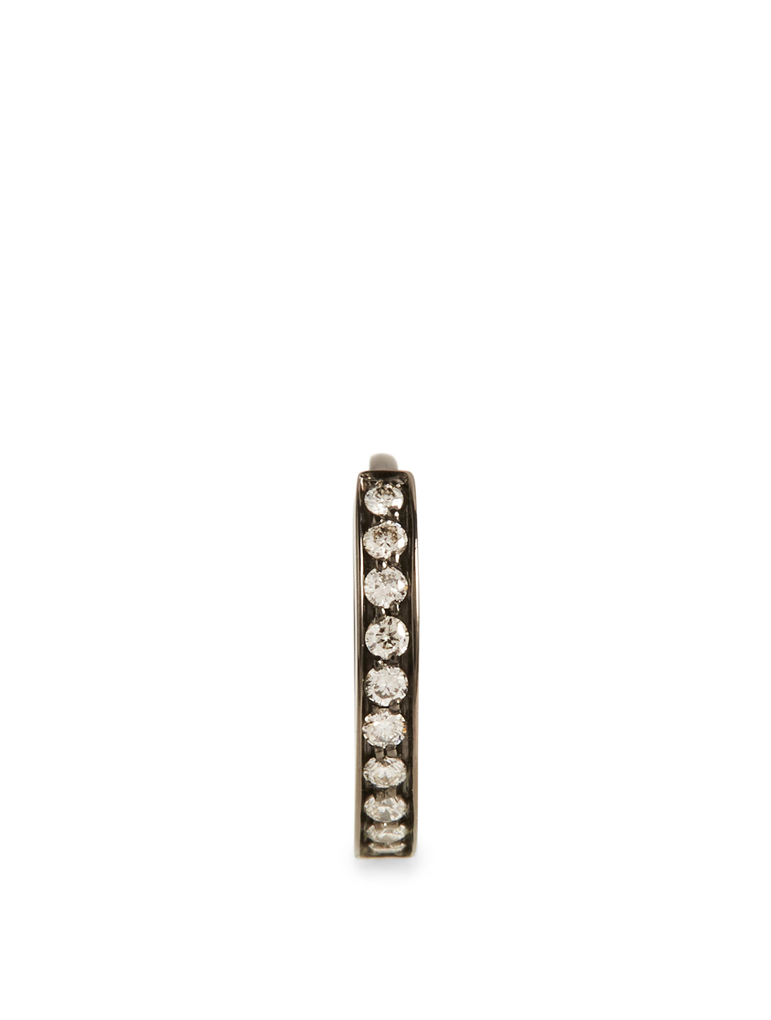 REPOSSI Mini Berbère Black Gold Huggie Earring With Diamonds Women's Black