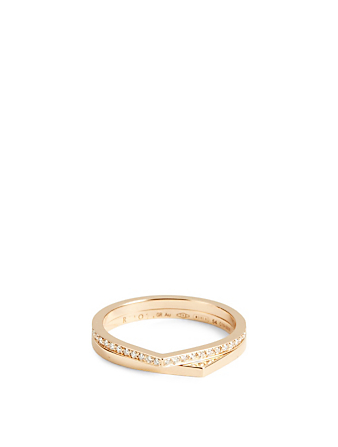 REPOSSI Antifer 18K Rose Gold Double Band Ring With Diamonds Women's Metallic