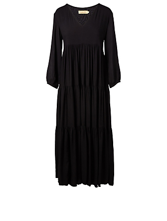 MUZUNGU SISTERS Frangipani Maxi Dress H Project Black