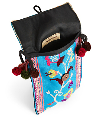MUZUNGU SISTERS Embroidered Textile Sling Bag H Project Multi