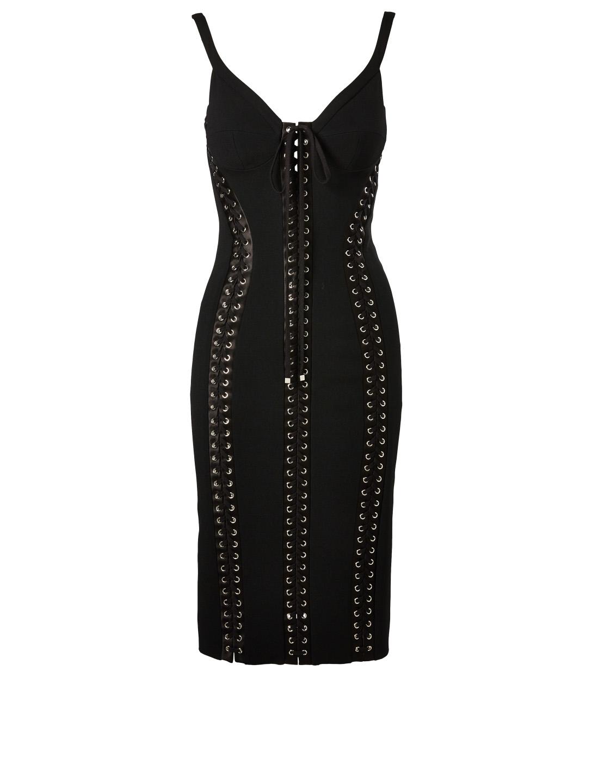 0f6f918ce79 DOLCE   GABBANA Lace-Up Bustier Dress Women s Black ...