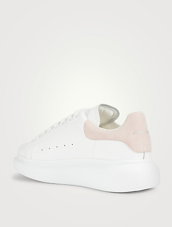 ALEXANDER MCQUEEN Oversized Leather Sneakers Womens Pink