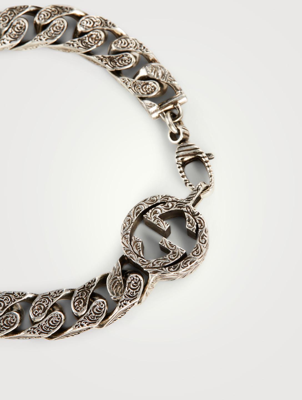 b98fa4bd7 ... GUCCI Interlocking G Silver Chain Bracelet Men's Silver