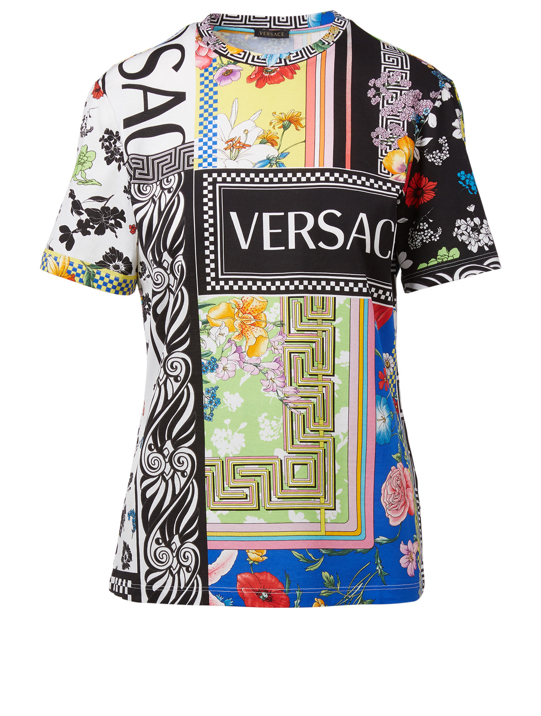 VERSACE Tee-shirt à imprimé Bloom Femmes Multicolore