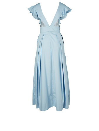 KALITA New Poet By The Sea Cotton Poplin Maxi Dress H Project Blue