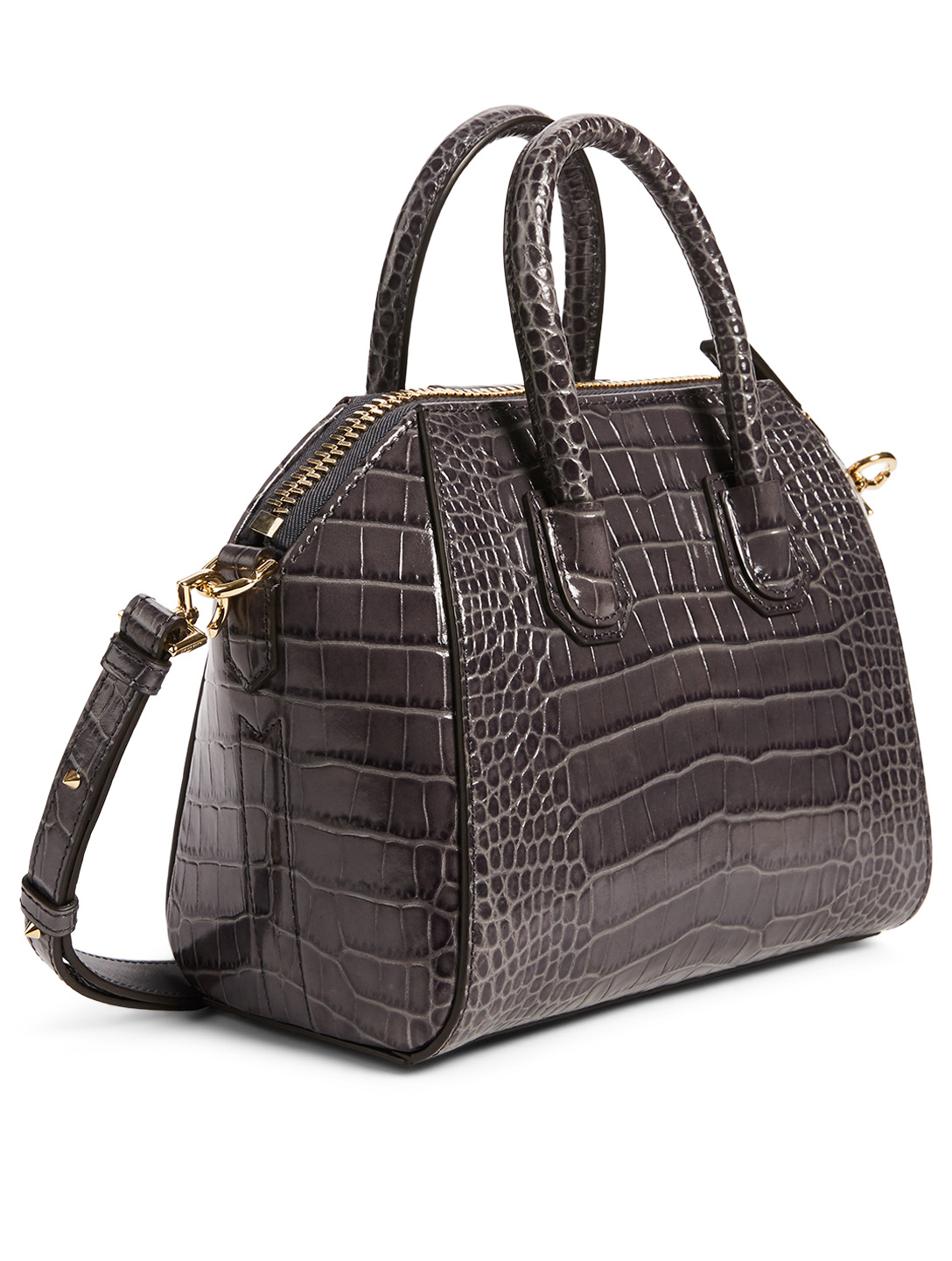 GIVENCHY Mini Antigona Croc-Embossed Leather Bag Women's Pink