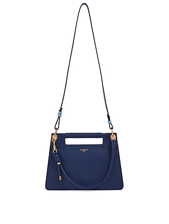GIVENCHY Medium Leather Whip Bag Women's Blue