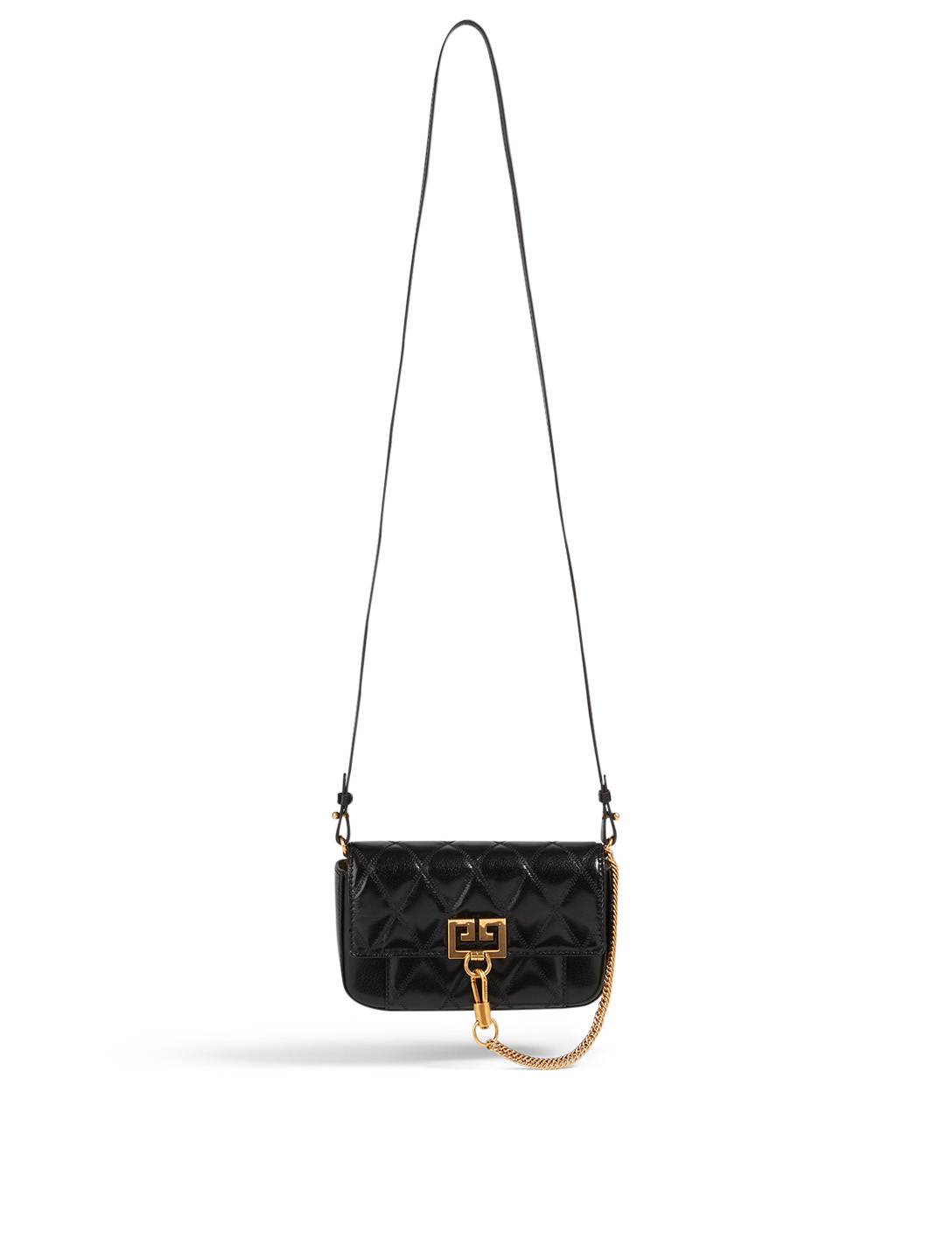 GIVENCHY Mini Pouch Pocket Leather Bag Women's Black